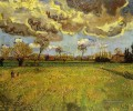 Landschaft under a Stormy Sky Vincent van Gogh