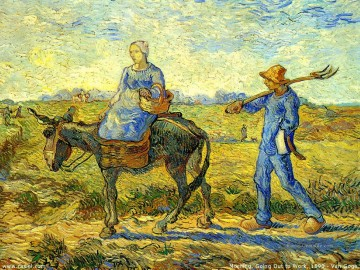Morning Going to Work Vincent van Gogh Ölgemälde