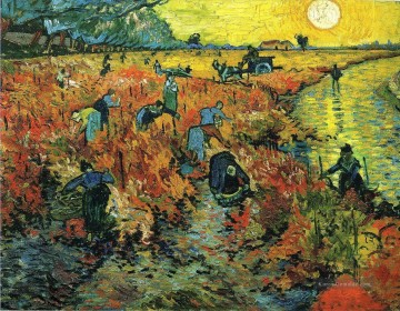 Vincent Van Gogh Werke - Red Vineyards at Arles Vincent van Gogh