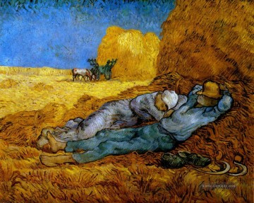 Vincent Van Gogh Werke - Rest Work after Millet Vincent van Gogh