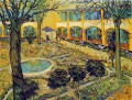 The Courtyard of the Hospital in Arles Vincent van Gogh