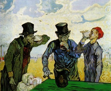 Vincent Van Gogh Werke - The Drinkers after Daumier Vincent van Gogh