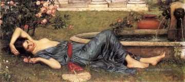 Summer Künstler - Sweet Sommer griechische weiblicher John William Waterhouse