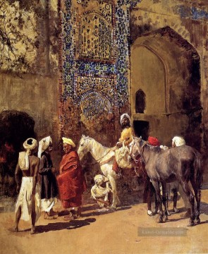 Edwin Lord Weeks Werke - Blau Fliesen Moschee in Delhi Indien Edwin Lord Weeks