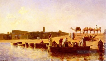 Edwin Lord Weeks Werke - At The Niet Crossing Persisch Ägypter indisch Edwin Lord Weeks