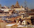 The Sacred Pigeons Jaipur Persisch Ägypter indisch Edwin Lord Weeks Feeding