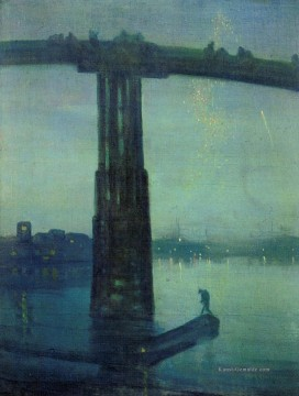 James McNeill Nocturne in Blau und Grün James Abbott McNeill Whistler Ölgemälde