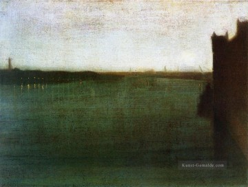 James Ölgemälde - Nocturne Grau und Gold James Abbott McNeill Whistler