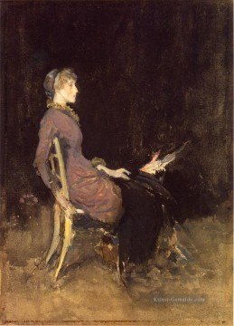 James Ölgemälde - Schwarz und Rot aka Study in Black and Gold Madge ODonoghue James Abbott McNeill Whistler