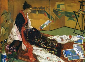 Caprice in Lila und Gold The Golden Screen James Abbott McNeill Whistler Ölgemälde
