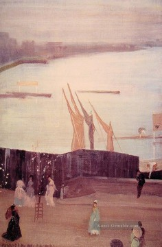 James Ölgemälde - Variationen in Rosa und Grau Chelsea James Abbott McNeill Whistler
