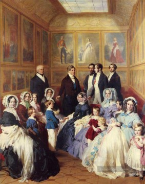 Franz Xaver Winterhalter Werke - Queen Victoria and Prince Albert with the Family of King Louis Philippe Franz Xaver Winterhalter