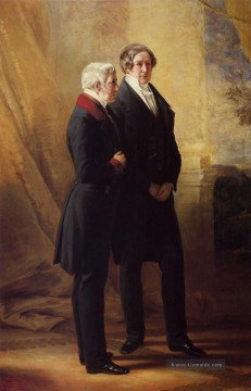 Franz Xaver Winterhalter Werke - Arthur Wellesley 1st Duke of Wellington with Sir Robert Peel Königtum Porträt Franz Xaver Winterhalter