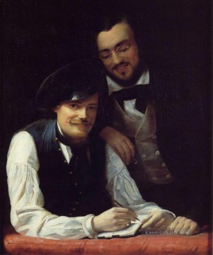 Franz Xaver Winterhalter Werke - Self Porträt of the Artist with his Brother Hermann Franz Xaver Winterhalter