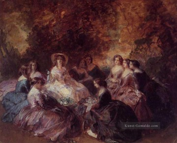 Franz Xaver Winterhalter Werke - The Empress Eugenie Surrounded by her Ladies in Waiting 1855 Franz Xaver Winterhalter