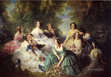 Franz Xaver Winterhalter Werke - The Empress Eugenie Surrounded by her Ladies in Waiting Franz Xaver Winterhalter