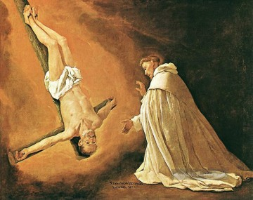 zu Kunst - The Apparition von Apostel St Peter nach St Peter von Nolasco Barock Francisco Zurbaron