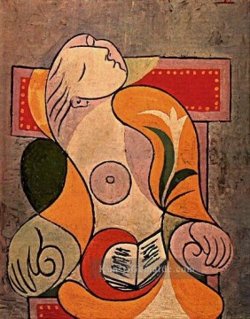 Marie Malerei - La lecture Marie Therese 1932 Kubismus