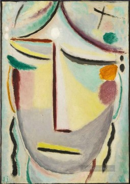 the annunciation 1785 Ölbilder verkaufen - SAVIOURS FACE MOONLIGHT ANNUNCIATION Alexej von Jawlensky Expressionismus