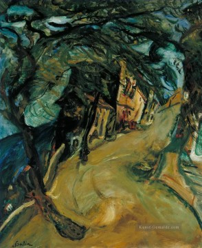 the annunciation 1785 Ölbilder verkaufen - The Road up the Hill Chaim Soutine Expressionism
