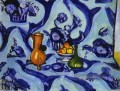 Blau TableCloth Fauvismus