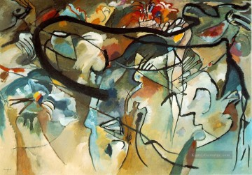 Reine Abstraktion Werke - Komposition V Wassily Kandinsky abstrakt
