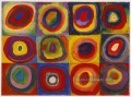 Squares with Concentric Circles abstrakt