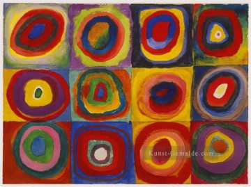 Reine Abstraktion Werke - Squares with Concentric Circles abstrakt