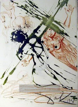 Surrealismus Werke - Jesus carrying the cross Surrealist