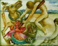 Saint George and the Dragon Surrealismus
