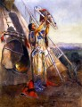 Sonnenanbetung in Montana 1907 Charles Marion Russell Indianer