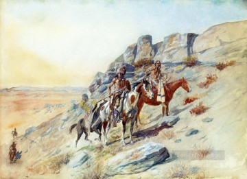 marion - Sichtung des Feindes Charles Marion Russell Indianer