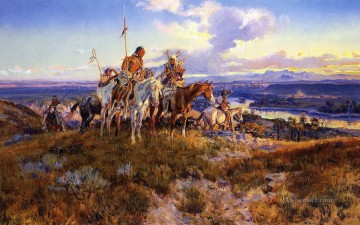marion - Wagen 1921 Charles Marion Russell Indianer
