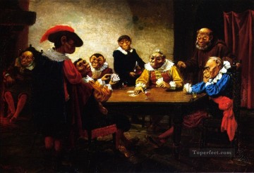 dogs playing poker Ölbilder verkaufen - The Poker Game William Holbrook Beard monkeys in clothes