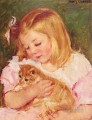 Sara Holding A Cat mary Cassatt