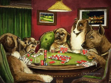 dogs playing poker Ölbilder verkaufen - dogs playing poker