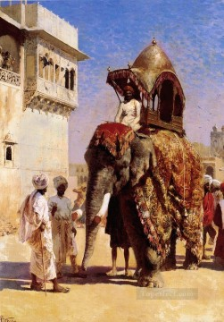Tier Werke - Moguls Elefant Araber Edwin Lord Weeks