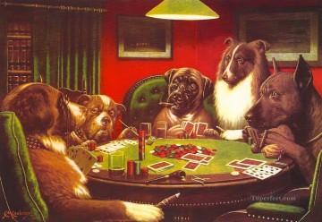 dogs playing poker Ölbilder verkaufen - dogs playing poker 5 Lustiges Haustiere