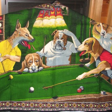 dogs playing poker Ölbilder verkaufen - dogs playing pool 2 Lustiges Haustiere