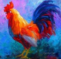 rooster impressionistic