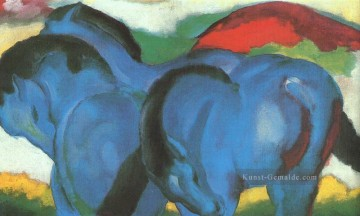 Little Blue Horses abstrakt Franz Marc Deutsch Ölgemälde