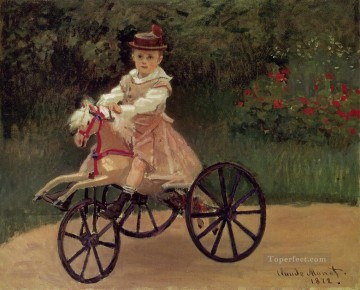 monet seerosen Ölbilder verkaufen - Jean Monet on His pferd Tricycle Claude Monet