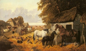 Tier Werke - Bringing in The Hay John Frederick Herring Jr Pferd