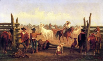 Tier Werke - James Walker Vaqueros in einem Pferd Corral