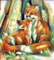 fox loves way Tiere
