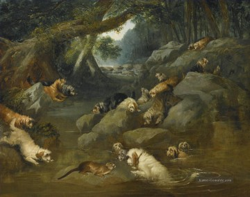 Reinagle Galerie - AN OTTER HUNT Philip Reinagle Tiere