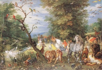 Tiere von unterschiedlichen Sorten Werke - The Animals Entering The Ark Flemish Jan Brueghel the Elder Tier