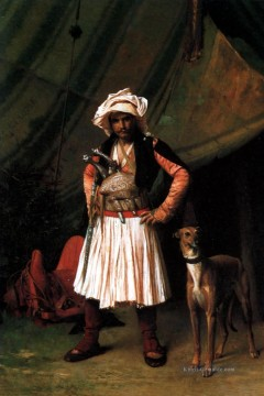 BashiBazouk and his hund Arabien Jean Leon Gerome Ölgemälde