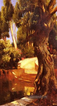 The Staircase Under The Trees Araber Maler Rudolf Ernst Ölgemälde