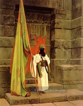 The Standard Bearer Arabien Jean Leon Gerome Ölgemälde